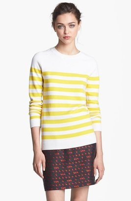 Nordstrom Miss Wu 'Zucca' Stripe Cashmere Blend Sweater Exclusive)