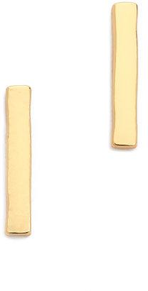 Gorjana Taner Bar Mini Stud Earrings $40 thestylecure.com