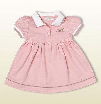 Gucci Pink Stretch Pique Polo Dress