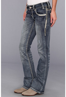 Rock and Roll Cowgirl Low Rise Boot Cut in Medium Destroy