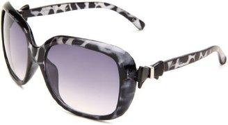 UNIONBAY Union Bay Women's U179 Oversized Oval Sunglasses,Black Animal Frame,Smoke Gradient Lens,One Size
