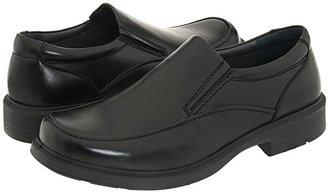 Deer Stags Brooklyn Slip-On Loafer (Black Burnished Leather) Men's Slip on Shoes