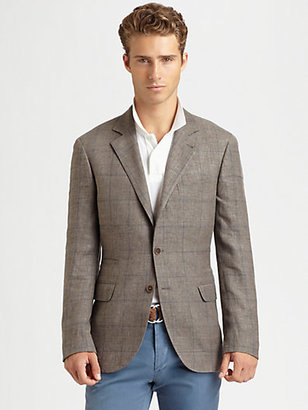 Brunello Cucinelli Traditional Windowpane Jacket