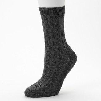 Apt. 9 cable-knit crew socks