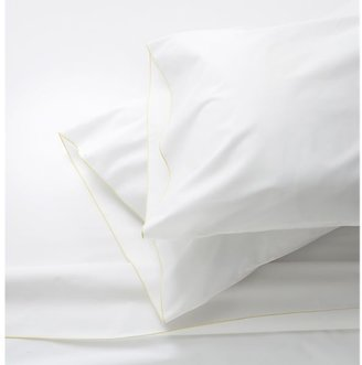 Crate & Barrel Belo Yellow Twin Sheet Set. Includes one flat sheet, one fitted sheet and one standard pillowcase.