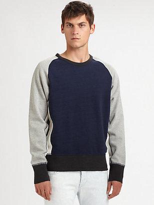 Rag and Bone Rag & Bone Colorblock Racer Sweatshirt