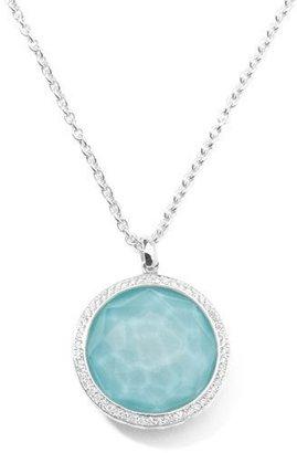 "Ippolita Stella Large Lollipop Necklace in Turquoise & Diamonds 16-18"""