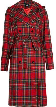 D&G Plaid wool trench coat