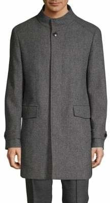 London Fog Classic Textured Overcoat