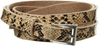 Topshop Natural Skinny Faux Snakeskin Belt