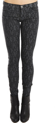 Current/Elliott The Ankle Skinny in Black Antique Lace