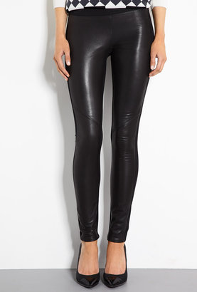 Paige Black Paloma Leather And Ponte Leggings