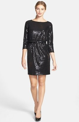 Vince Camuto Belted Sequin Dress