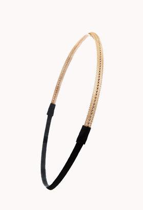 Forever 21 Beaded Mesh Chain Headband