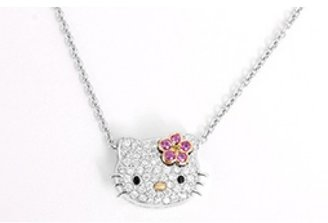 Hello Kitty excellent (EX 18K White Gold and Diamond Necklace