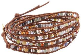 "Chan Luu 32"" Multi Mix/Natural Brown Bracelet"