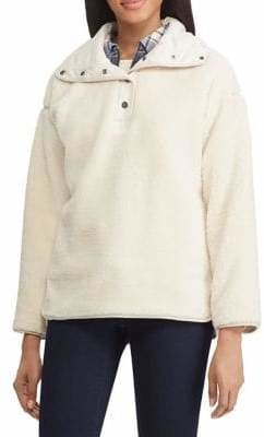 Chaps Mock Neck Pullover