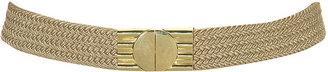 Topshop Gold Clasp Woven Elastic Belt