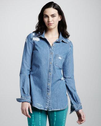 Paige Eden Deconstructed Denim Shirt