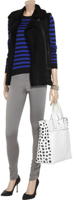 Anya Hindmarch Raw Nevis eyelet-embellished leather tote