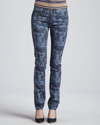 Tory Burch Ivy Printed Skinny Jeans