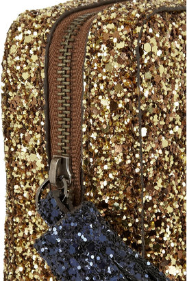 Anya Hindmarch Twinkle glitter-finished clutch