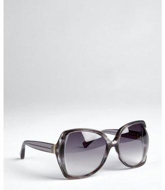 Yves Saint Laurent grey acrylic oversized sunglasses