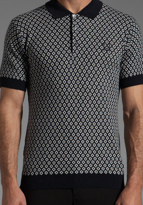 Raf Simons Fred Perry x Knitted Jacquard Fred Perry Shirt Polo