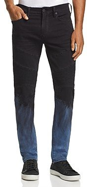 True Religion Rocco Dip-Bleached Skinny Fit Jeans in Pipeline Blue
