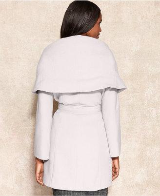 Tahari Marla Shawl-Collar Wrap Coat