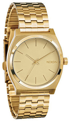 Nixon The Time Teller Watch in All Gold