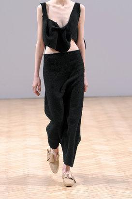 J.W.Anderson Textured-wool maxi skirt
