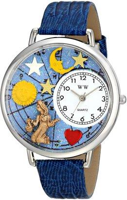 Whimsical Watches Unisex U1810002 Virgo Royal Blue Leather Watch