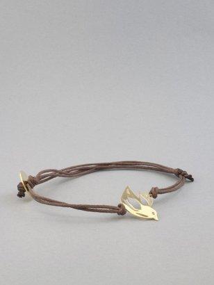 Kris Nations Gold Small Bird Charm Bracelet