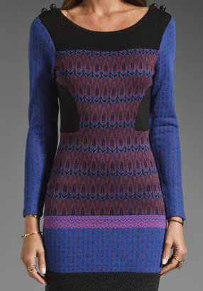Plenty by Tracy Reese Patchwork Sweater Dress