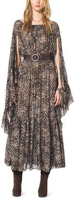 Michael Kors Metallic Fil Coupe Bohemian Dress