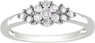 MODERN BRIDE CT. T.W. Diamond Cluster Ring