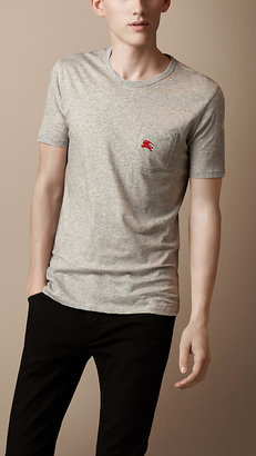 Burberry Patch Pocket Cotton T-Shirt