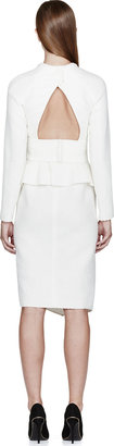 Proenza Schouler Ivory Textured Asymmetrical Tiered Dress