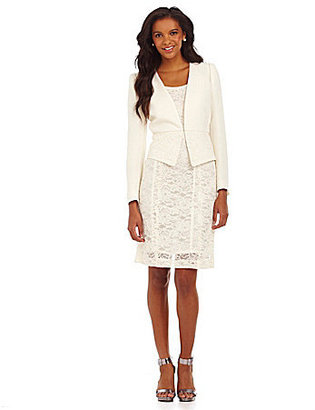 Tahari by Arthur S. Levine Tahari by ASL Lace Jacket and Skirt