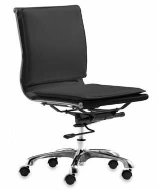 ZUO Modern Lider Plus Black Armless Office Chair
