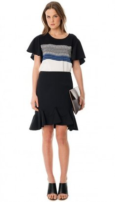 Tibi Mohave Cape Sleeve Top