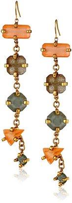 Erickson Beamon Rocks Gold-Plated Six Stone Drop Earrings