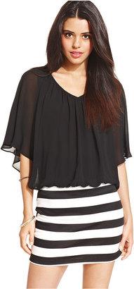 Amy Byer BCX Striped Blouson Dress