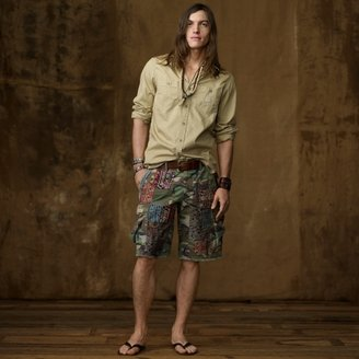 Denim & Supply Ralph Lauren Patched Cutoff Cargo Short