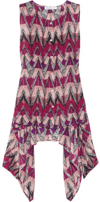 See by Chloe Printed sleeveless silk top