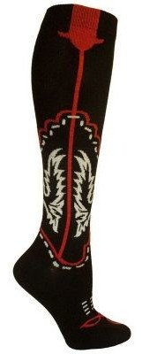 Ozone Design Set of 2 Cowboy Boots Socks