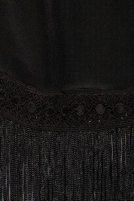 Chelsea Flower Fringed silk camisole
