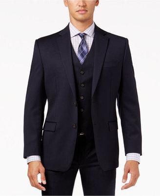 Lauren Ralph Lauren Navy Solid Classic-Fit Jacket $425 thestylecure.com