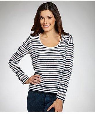 Splendid Capeside Stripe Long Sleeve Top T-shirt